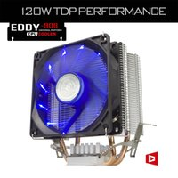 Wholesale Heatsink Fan 775 - Wholesale- ALSEYE 2 Heatpipes Radiator 90mm CPU Cooler Fan TDP 120W Aluminum Heatsink LED Fan for i3 i5 i7 LGA 775 115x 1366   AM2+  AM3+