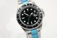 Wholesale Cheap Mechanical Wristwatch - man hot 40mm case GMT Promotion cheap automatic mechanical Selling fashion new brand men watch stainless steel wristwatch men's Watches