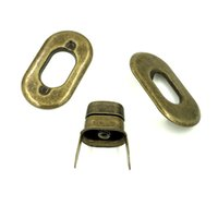 purse turn lock al por mayor-Turn Lock 10 Unids Tono de Bronce Antiguo Monedero Oval Giro de la Torsión Bloqueo DIY Bolso Del Monedero Del Bolso Cierres 37x21mm