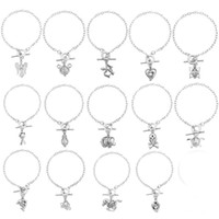 Wholesale Silver Plated Butterfly Charms Beads - Women'S Pearl Cage Charm Bracelets With Oyster Pearl Beads Fashion Butterfly Elephant Dolphins Locket Bracelet Jewelry