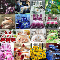 Wholesale Charm Cleaner - 2017 Cheap 3D Bedding Sets 4pcs Charming Blue Roses Pattern Design Printed Comforter Sets Queen Size Duvet Cover Bed Sheet free shipping