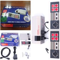 Wholesale New Wi - New HD HDMI Out Retro Classic Game TV Video Handheld Game Console Entertainment System Built-in 600 500 Classic Games for NES mini Game