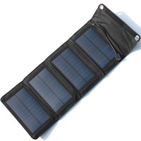 Wholesale foldable solar chargers for sale - Group buy New Design V W Foldable Solar Panel Charger Portable Solar Cell Charger For Charging Mobile Phones USB Output High Quality