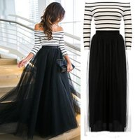 Wholesale Women S Long Tutu Dress - Off Shoulder Striped High Waist Tutu Ball Gown Party Club Slim Long Dress Sets For New Fashion Women Ladies