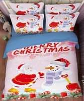 Wholesale Christmas Comforters Blue - New Style Christmas Series 3 or 4 Pieces Set Comforter Bedding Sets 3D Reactive Printing Beds Bed Sheet Set Duvet Cover Beddings set