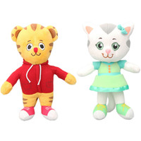 "Wholesale prince toys - New 20cm 7.8"" Katerina Kittycat Daniel Tiger's Neighborhood Friends Plush Toy Miss Elaina Prince Wednesday Soft Stuffed Animal Dolls"