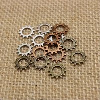 Wholesale Metal Gear Free - Wholesale Min Order 200pcs 12mm Three Color Metal Alloy Machinery Gear Jewelry steampunk Charm Jewelry Findings Free shipping CP220