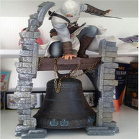 Wholesale Altair Figure - Assassins Creed Altair The Legendary Assassin Bell PVC Action Figure Resin Collection Model Doll Toy Gifts Cosplay