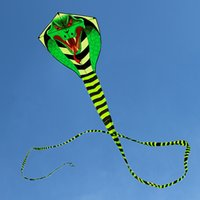 Wholesale Birds Kites - Wholesale- free shipping high quality 15m large snake kite cobra kite with handle line outdoor toys for adult bird kite eagle animal bee
