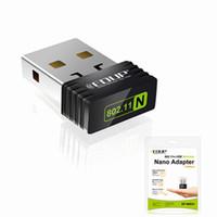 Wholesale Wifi Ralink - EDUP 150M Mini USB Wifi Wireless Nano Adapter 150Mbps IEEE 802.11n g b LAN Ralink 5370 Network Card EP-N8531 Wholesale