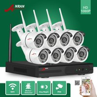 ANRAN sorveglianza CCTV P2P HD 8CH WIFI NVR giorno di notte video impermeabile 36 IR 1080P Wireless IP Camera Security System
