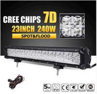 7D CREE Chips 240W 23inch LED Luce Luce Combe Luce Led Offroad Led Bar Luci per camion SUV ATV 4x4 4WD 12v 24v