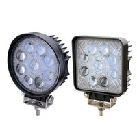 2x 4 pouces 27W 5D Led Lampes de travail Offroad Lamp Truck Boat 12v 24v 4wd Round Spotlight