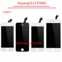 Wholesale Oem Phone Parts - 10pcs Best OEM AAA For iPhone 5 5C 5S 6 6 plus Mobile Phone Parts LCD Touch Screen Digitizer Display Replacement