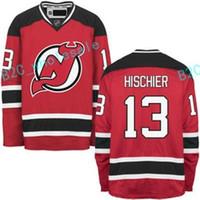 Wholesale Cheap Custom Hockey Jersey - Hot NEW ARRIVAL New Jersey Devils #13 Nico Hischier 2017 No.1 Draft Pick Custom NHL Hockey Jerseys White Red Cheap