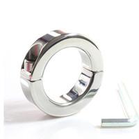 toplar çelik sedye toptan satış-150g küçük stil paslanmaz çelik top sedye testis bongage cihazı skrotum ağırlık halkası