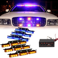 6 x 9 LED Notfall Auto Boot Bar blau Bernstein Strobe Light 3 blinkende Modi