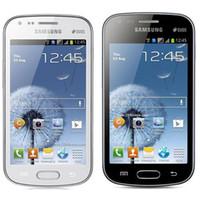 Wholesale Galaxy S Phones - Refurbished Original Samsung Galaxy S Duos S7562 Dual SIM 4.0 inch 4GB ROM 5.0MP Camera 3G WIFI Bluetooth GPS Unlocked Mobile Phone Post 1pc