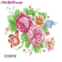 Wholesale Cheapest Tattoo - Wholesale- Cheapest Small Tattoo Colorful Peony Flower Designer Temporary Tattoo Sticker Body Art Water Transfer Sticker For Face