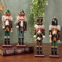 carved nutcracker - European Nutcracker puppet soldiers display wine TV cabinet room decoration decoration Home Furnishing