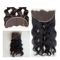Оптовая 10 '' до 20 '' Body Wave Nature Color Remy Человеческие волосы Закрытие Weave Hand Made Brazilian Virgin Toupee 4 * 13 Lace Frontal Closure