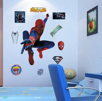 Wholesale Spider Man Wall Stickers - The New Spider Man 3D Three-dimensional Wall Stickers Creative Sofa Bedroom Background Decorative Wall Stickers