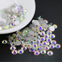 Wholesale Nail Art Beads - Super glitter Nail art rhinestones Crystal AB ss3-ss30 Non HotFix FlatBack strass Wedding decoration rhinestones beads