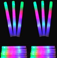 Big Kids sponge materials - multi color material foam changing led glow stick christmas Electronic Concert Multicolor sponge stick flash stick new