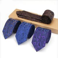 Wholesale Tie Cravat Slim - Floral Ties For Men Skinny Mens Ties Gravatas Slim Corbatas Vestidos Wedding Cotton Groom Neck Tie Cravat Neckties