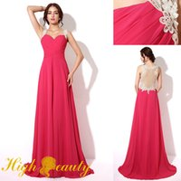 Wholesale Sweetheart Empire Waist Prom Dresses - Sexy Appiliqued IllusionBack Sweetheart Neckline Ruffled Waist Ball Gown Pretty Princess Cocktail Party Evening Prom Dress DHL Free Shipping