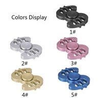 sport textures - In Stock New style dollars Fidget Hand Spinners with iron box packaging alloy texture decompression anxiety toys colors Free by DHL
