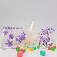 Wholesale Candy Bags For Wedding Shower - Beautiful Butterfly Non Woven Hand Bag Jewelry Gift Candy Pouch Storage Bags for Baby Shower Party Wedding Festival ZA3395
