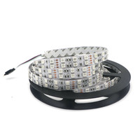 ingrosso luce gialla bianca principale-Edison2011 SMD 5050 LED Strip Super Bright 600 LEDs Double Row 12V White Giallo Rosso LED RGB Luci non impermeabili flessibili