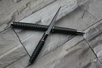 Wholesale Defense Pens - Carbon fiber tactical hidden knife pen serrate 2.25in stainess steeel blade outdoor gadgets self-defense tactical survival pen