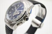 Wholesale Mens Clasp Belt - High Quality Luxury Mens Sports Quartz Chronograph Watches Best Brands 36 rs Stopwatch Black Face Rubber Belt Original Clasp Watch For Men