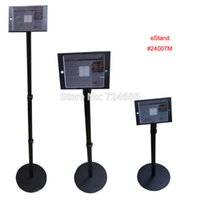 Wholesale Shop Store Retail - Wholesale- for mini iPad floor stand with lock secure kiosk height adjustable display on retail store or bank   hotel   shop