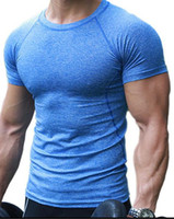 ropa de las camisetas al por mayor-2017 Gyms Hombre Ropa Fitness Compression Base Capas bajo Tops T-shirt Thermal Tees Top Alta Flexibilidad Skins Gear Wear Sports Vest