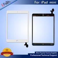 substituição do mini digitalizador do ipad da maçã venda por atacado-Para branco ipad mini touch screen digitador + botão home ic + adesivo de substituição frete grátis dhl