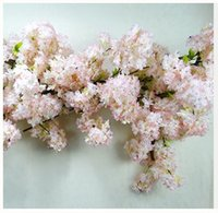 Display Flower blossom decor - NEWEST forks Simulation of cherry blossoms Pear flower branches Wedding decor cherry blossom silk artificial flowers Celebrate decor