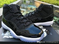 Wholesale Wholesale Leather Flats - Sport Sneakers Air Retro 11 New Space Jam 45 Basketball Shoes 2016 Sports Black Varsity Royal Retros 11s Space Jam 378037 041 With Box
