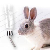 Wholesale Rabbit Dispenser - 2017 new 350ml Pet Rat Water Drinking Bottle Hamster Rabbit Small Animals Dispenser Cylindrical Feeder MYY