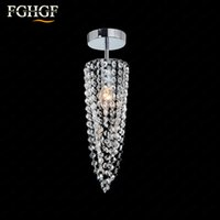 Wholesale Cristal Ceiling - Small Crystal Chandeliers Aisle Hallway Mini Crystal Light Lamp for Ceiling Corridor Cristal Lustres Light Chandeliers Free Shipping