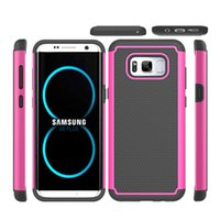 Wholesale Advanced Fashion - Shockproof Protection Armor Case For Galaxy A310 G360 J3 S8 Plus Note8 J310 Case Classic Advanced Fashion Mobile Phone Case Retail package