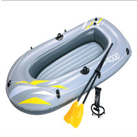 Wholesale Kayak Inflatable - 2 person kayak in 0.42mm eco-friendly PVC fast inflation deflation with 2 paddle and 30cm hand pump inflatable size 223x110cm