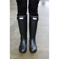 Wholesale Pink Galoshes - Womens Rainshoes Wellies Wellingtons Wellington Rain Boot Welly Waterproof Knee Boots Rainboots Rain Boots Glossy Matte Shoes Galoshes