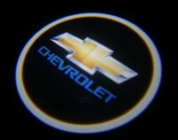 Wholesale Chevy Led - 2Pcs Chevy Silverado LED Logo Door Projectors Ghost Shadow Lights Emblem Puddle Lamps Free shipping