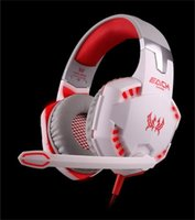 Atacado Original KOTION EACH G2000 Gaming Headset Deep Bass Computer Game Auscultadores com microfone LED Light para computador PC Gamer