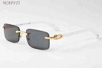 Wholesale Original Bamboo - High Quality 2017 Men and Women Wood Sunglasses Brand Designer Buffalo Horn Glasses Rimless Sunglasses Original Bamboo Sun Glasses Oculos