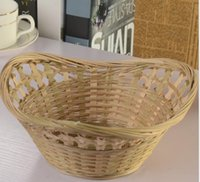 Wholesale Handmade bamboo products bamboo Classic garden wind portable storage basket containing egg fruit and vegetable basket