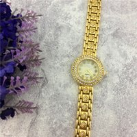 Wholesale Chain High Grade Steel - Fashion Style Lady Watch Luxury With Full diamond Women Watch Steel Bracelet Chain Lady Quartz Dress watch relogio masculine High-grade